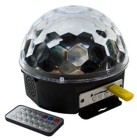 Светодиодный диско-шар Magic Ball LED MP3 + пульт БЕЗ БЛЮТУЗА