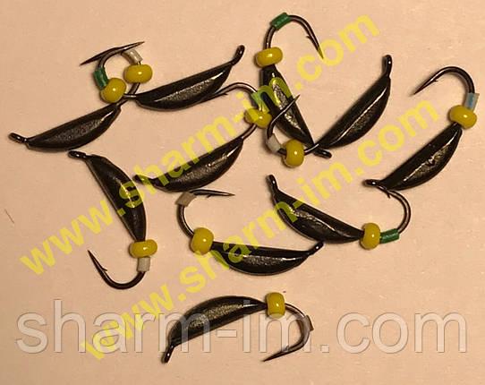 Блешня вольфрамова Bravo 1825B-BN 2,5 мм 0,68 гр. Супер банан з вушком фарбований, фото 2