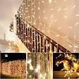 Гирлянда штора 3x6 м 600 LED теплый белый, фото 5