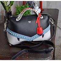 Женская сумка-саквояж Fendi (Фенди), черный цвет, фото 1