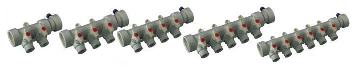 Коллектор с шаровыми кранами на 4 выходов 40х20 Koer K0171.PRO