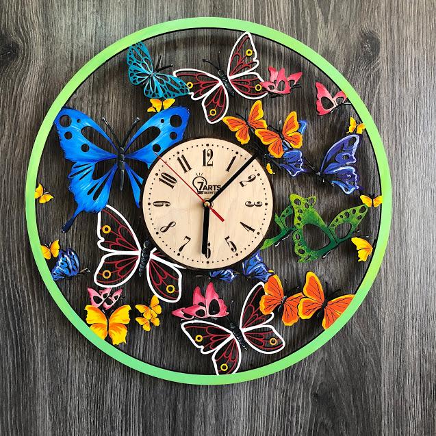 """Годинник настінний """"Вальс метеликів"""" CL-0254"""