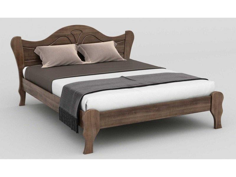 Ліжко двоспальне в спальню з натурального дерева Л-217 Скіф
