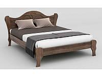 Ліжко двоспальне в спальню з натурального дерева Л-217 Скіф, фото 1