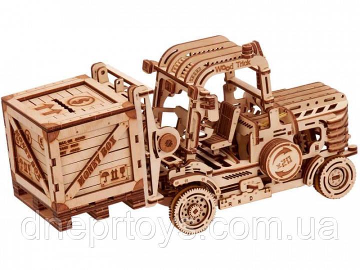a00faec1d3051 Детский деревянный механический конструктор Wood Trick - Погрузчик. БЕСПЛАТНАЯ  ДОСТАВКА - Интернет - магазин