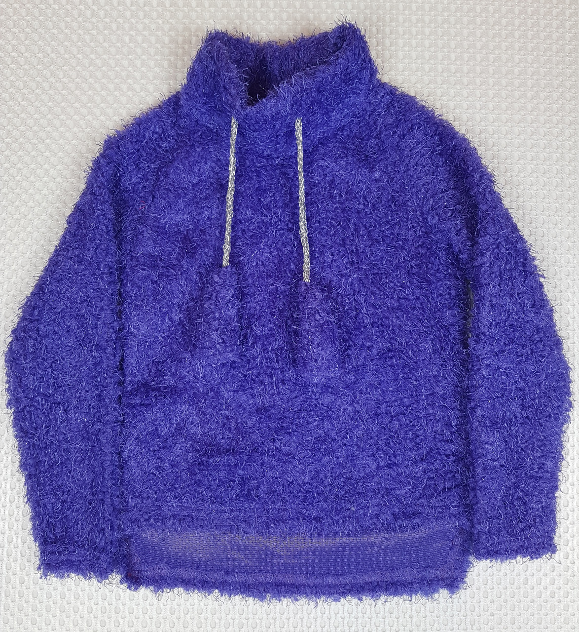 №204 ТЕПЛЫЙ детский батник  для девочки травка  110-128 фиолетовый