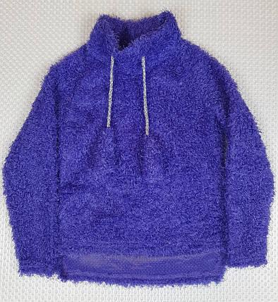 №204 ТЕПЛЫЙ детский батник  для девочки травка  110-128 фиолетовый, фото 2