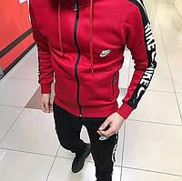 Чоловічий зимовий костюм Найк червоний (ТОП репліка), фото 1