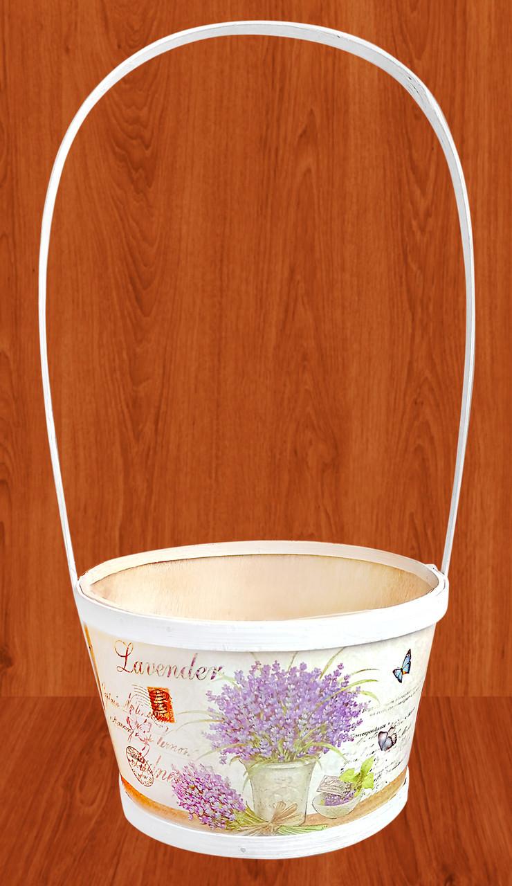 Корзина  для цветов  Прованс 31х12,5 см
