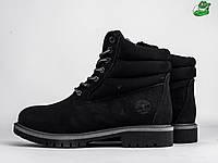 Мужские зимние ботинки Timberland, Материал   натуральный нубук, Цвет -  черный 0b94985844d