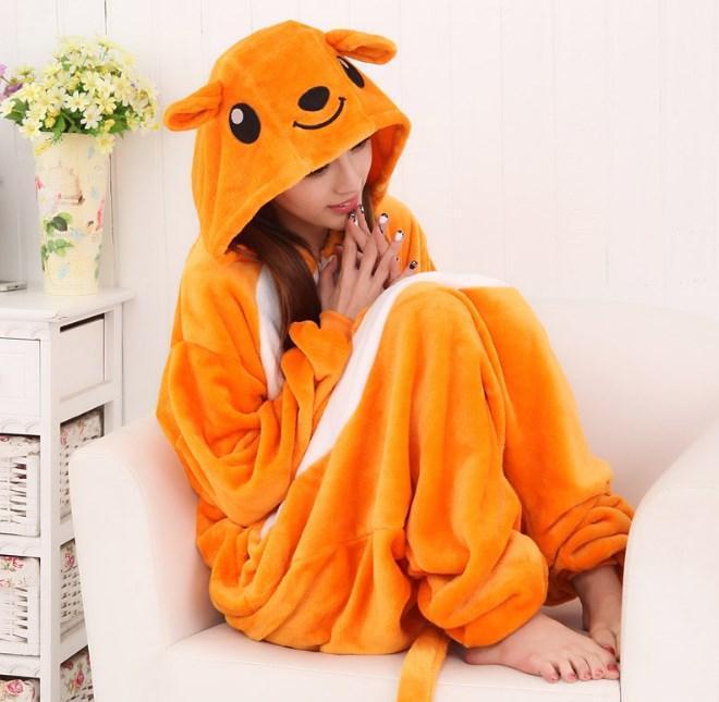 Пижама кигуруми Взрослые и Детские Кенгуру