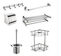 Набор аксессуаров для ванной/туалета из нержавеющей стали AISI 304 Germece 9614 (6 предметов)