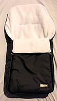 Спальный мешок-конверт на искусственном меху Original № 13 графит ( Польша) WOMAR