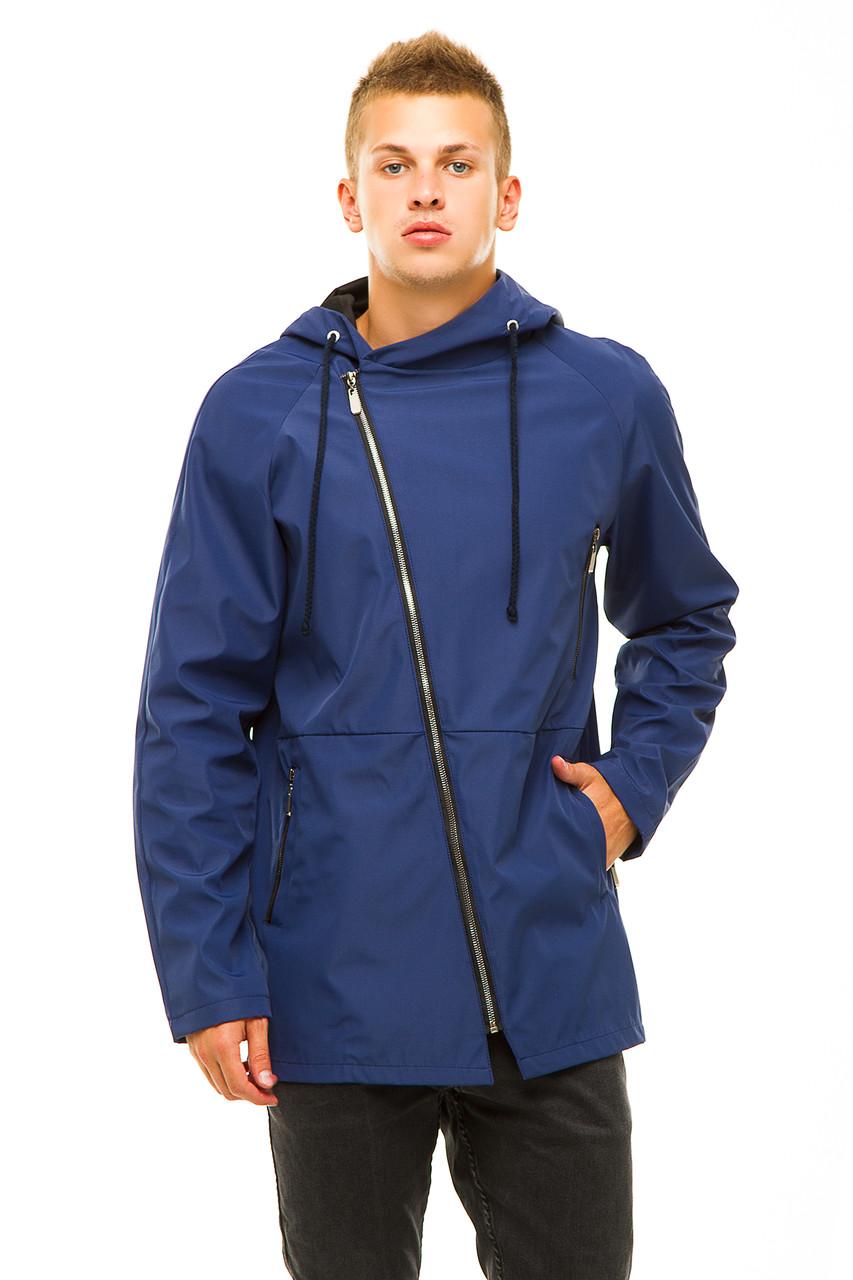 Мужская куртка 347 синяя размер 46