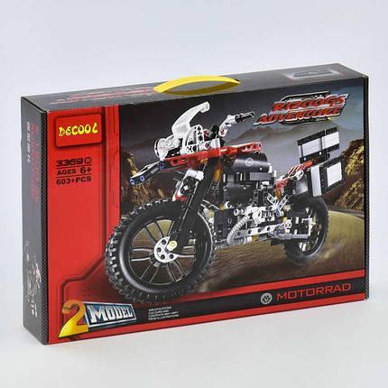 """Конструктор Decool 3369В Technology """"Мотоцикл"""" 603 дет, фото 2"""