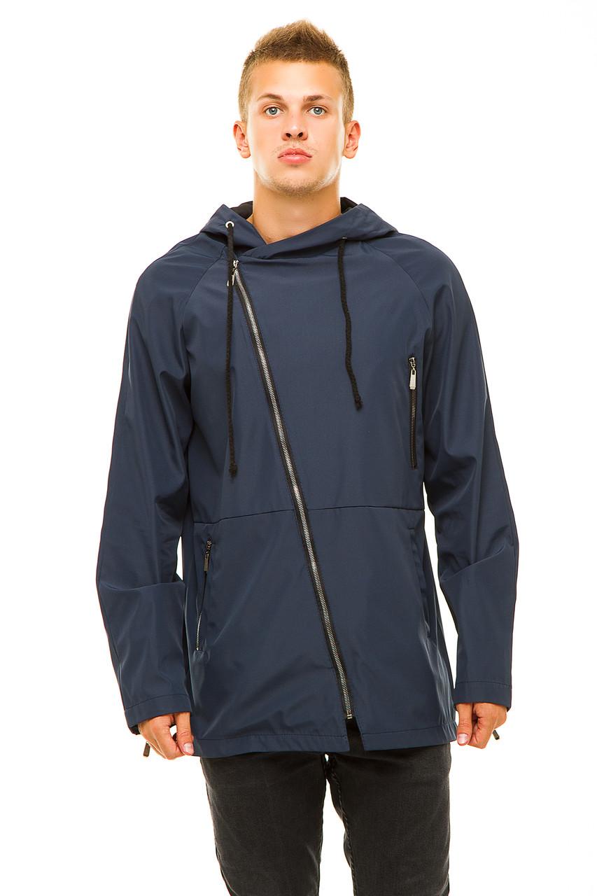 Мужская куртка 347 темно-синяя 46