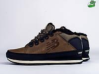 Мужские зимние ботинки New Balance 754, Материал   кожа, Цвет - коричневый 3bac82467e2