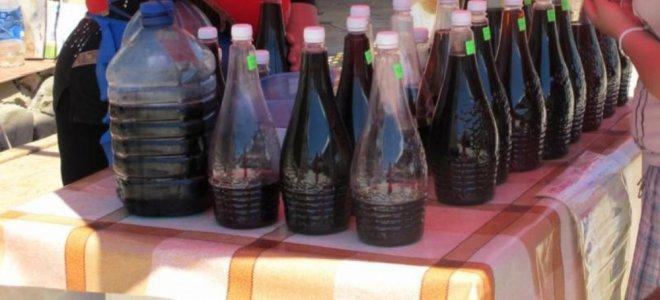 Вино полусухое красное Изабелла ( из Берегова ) 1000мл.