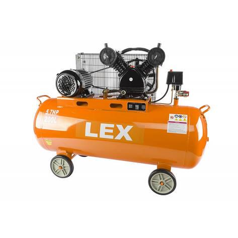 LEX компрессор 200 літровий 2 поршневий, фото 2
