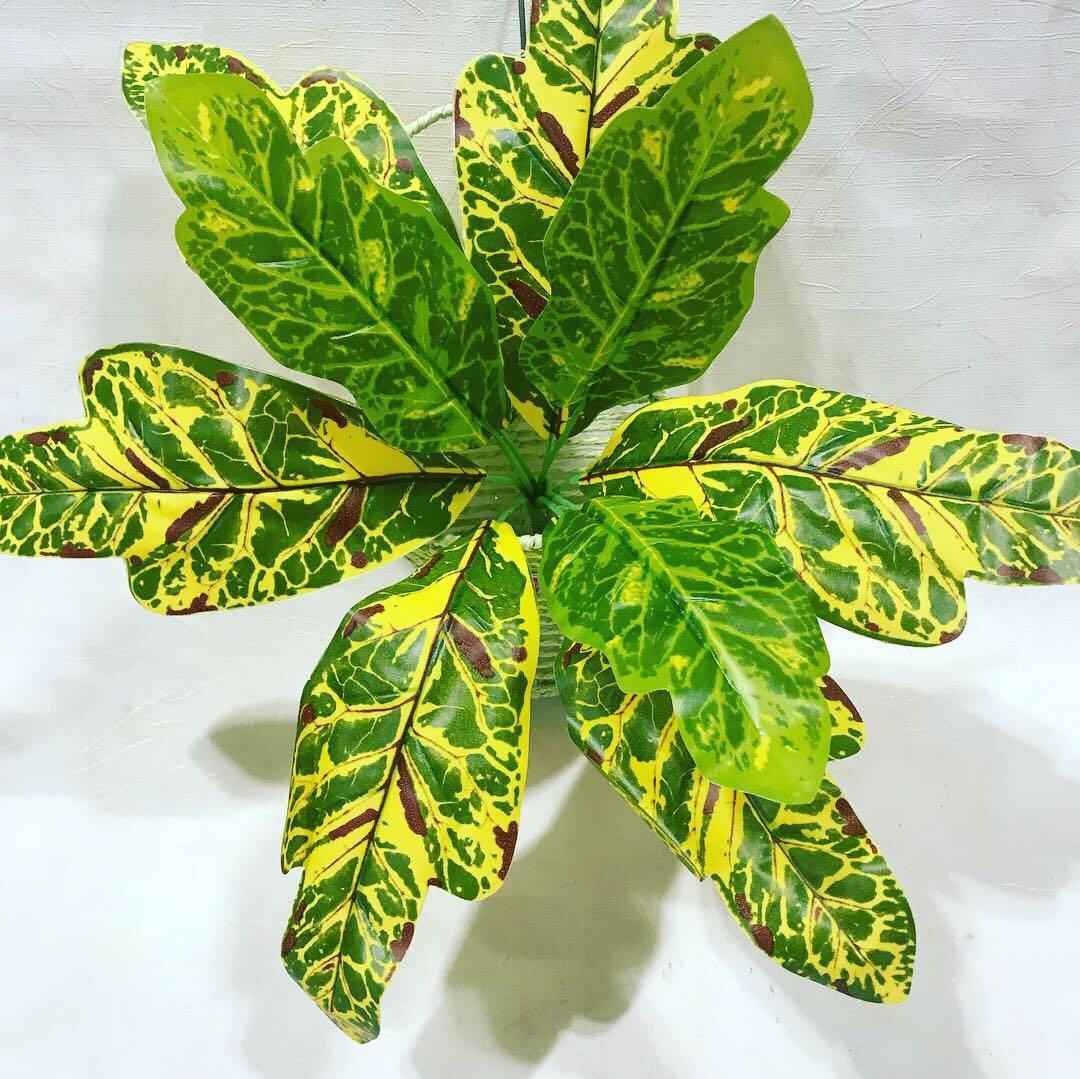 Искусственный куст.Декоративное, комнатное растение-кротон.