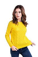 Яркий желтый вязанный джемпер