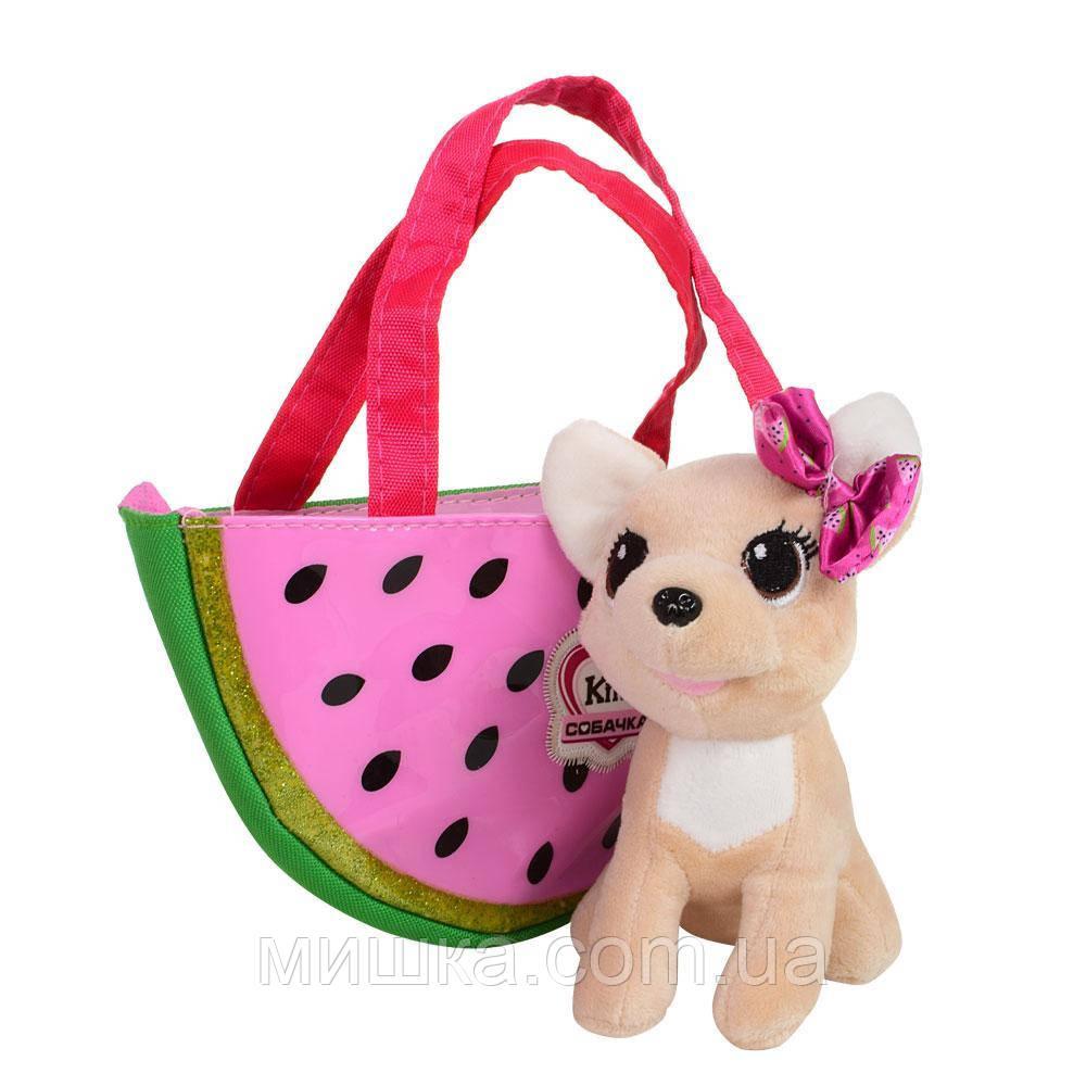 Собачка Кикки в сумочке, интерактивная игрушка 16 см, M 3698 RU