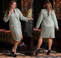 Красивое пальто двубортное
