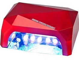Лампа для ногтей многогранник 36Вт +LED