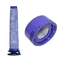 Аккумуляторный фильтр для фильтра фильтра после фильтра HEPA Мотор Фильтр для Dyson V7 V8 96566101 + 96747801 1TopShop
