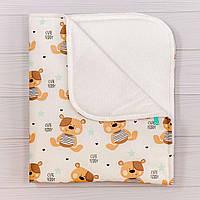 Непромокаемая мягкая многослойная пеленка BabySoon Мишки Тедди 70 х 80 см (0632), фото 1