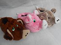 """Тапочки-игрушки """"Свинка""""."""