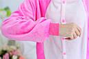Пижама кигуруми Взрослые и Детские Cтич розовый, фото 5