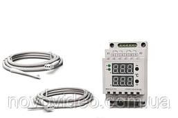 Терморегулятор ТР2-10Д  для теплого пола цифровой на 2 канала по 10А
