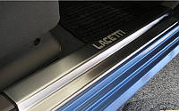 NataNiko Накладки на пороги для CHEVROLET LACETTI '02-11 (Комплект 4 шт.) Premium, фото 1