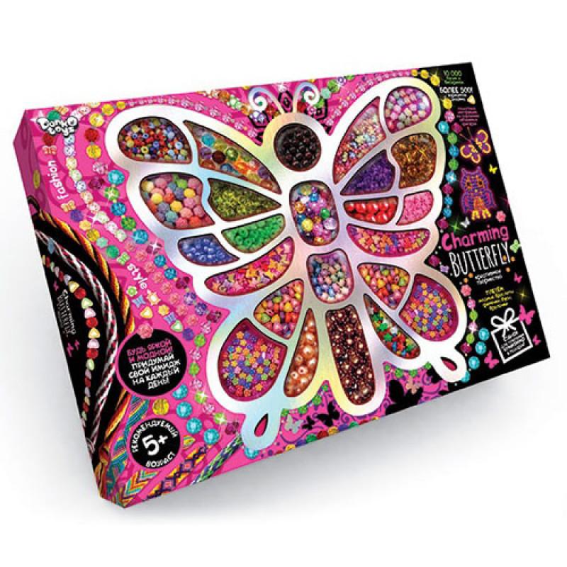 """Набір креативної творчості """"Charming Butterfly"""" Виготовлення прикрас і біжутерії, CHB-01-01 ДАНКО ТОЙС"""