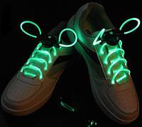 Светящиеся шнурки 1-го поколения Ultralight, зелёные - отличный подарок!