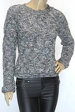 вязаный женский свитер меланж, фото 3