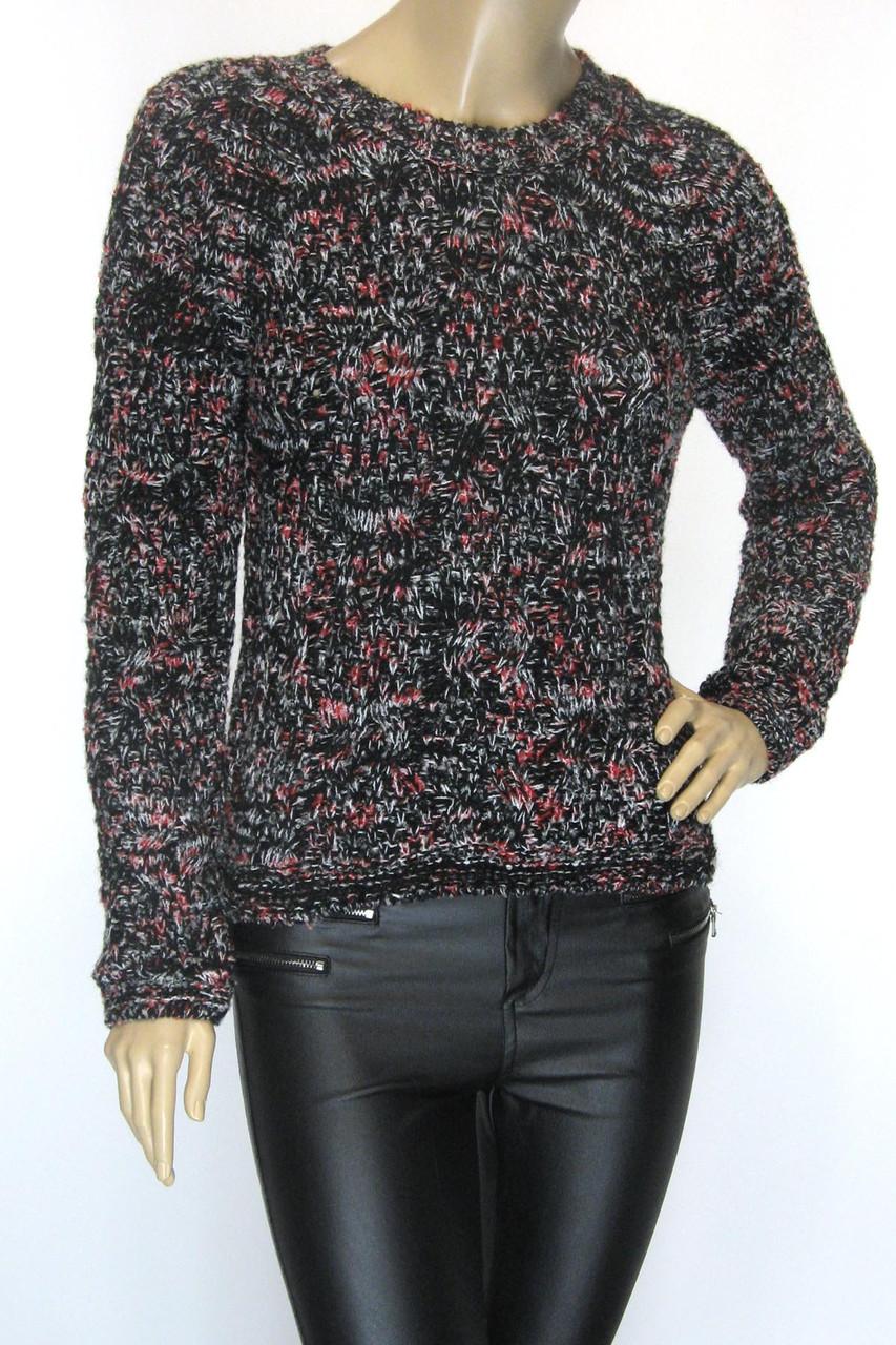 вязаный женский свитер меланж