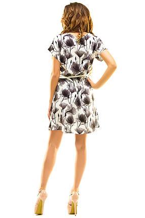Платье 412  с ремнем серое размер 42-44, фото 2