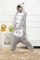 Пижама кигуруми Взрослые и Детские Тото серый