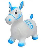 Детские прыгуны-Лошадки MS 0373, бело-голубой