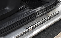 NataNiko Накладки на пороги для FORD Transit Connect II '13- (Комплект 2 шт.) Premium + carbon