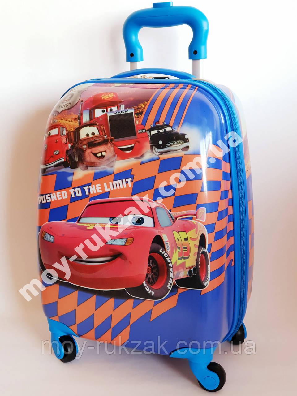 """Детский чемодан дорожный на колесах 16"""" «Тачки» Cars-12, 520383"""