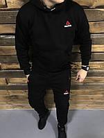 Мужской зимний черный костюм Reebok, черный костюм рибок, фото 1