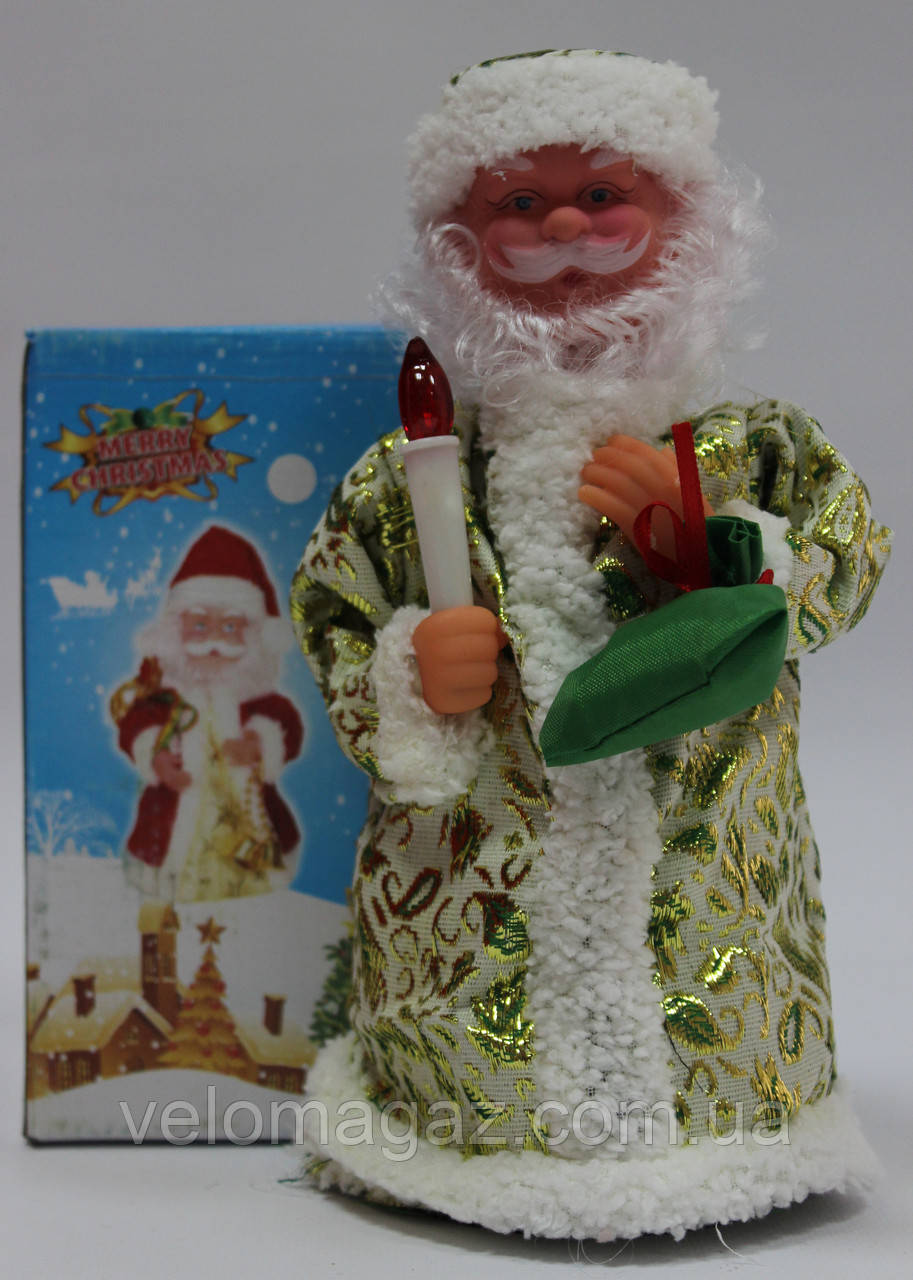 Дед мороз музыкальный, 23 см, песня, светлый цвет