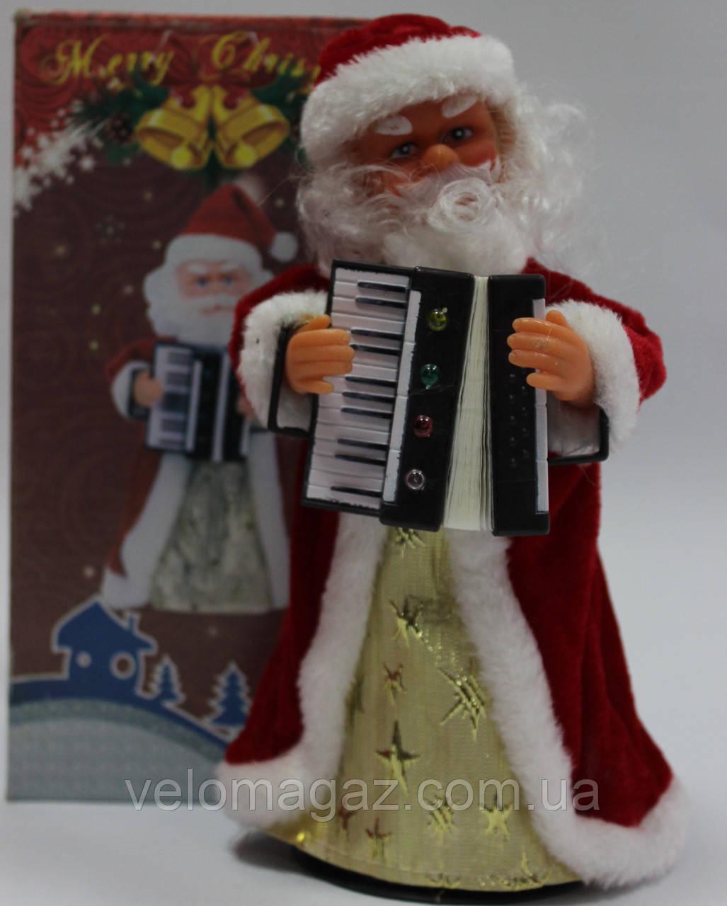 Дед мороз музыкальный, 23 см, звук
