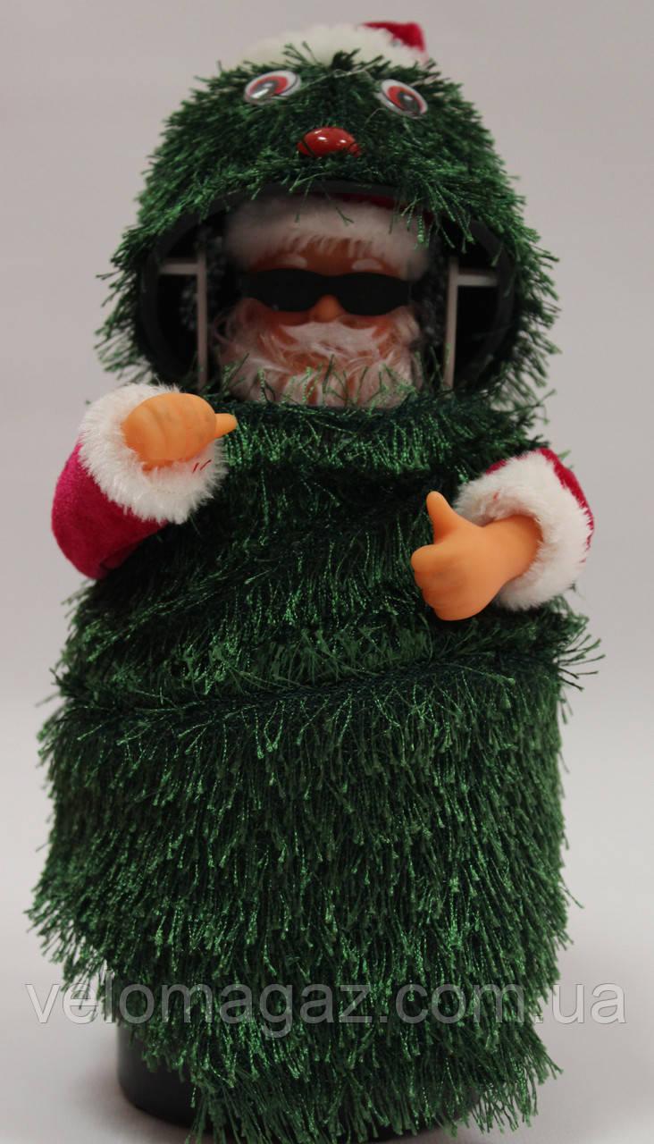 Дед мороз музыкальный (внутри елочного чудика), 26 см, танцует, поет