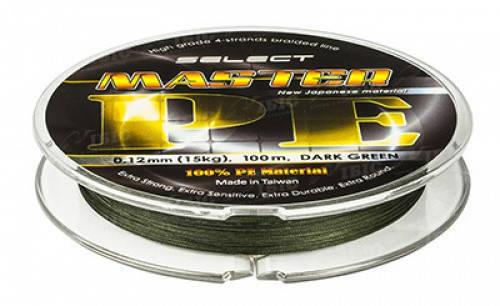 Шнур Select Master PE 100m 0.08mm 11кг темн.-зел., фото 2