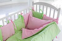 Бортики-подушечки в кроватку для девочки