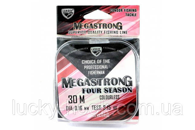 Леска Condor Megastrong Four Seasons 30m 0.08mm, фото 2